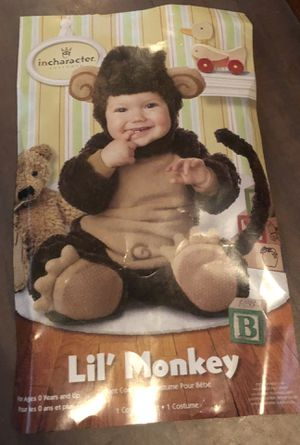 Little Monkey Halloween Costume size 6-12 Months for Sale in Moreno Valley, CA