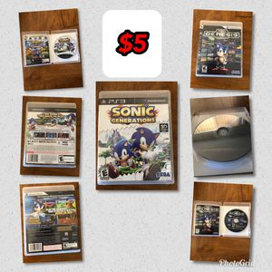 Sonic Generations and Sonic Ultimate Genesis Collection (PS3) for Sale in Phoenix, AZ