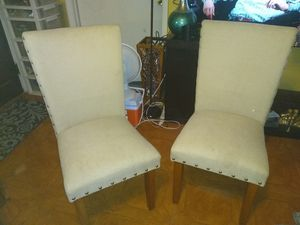 Two Dinner Chairs Wheat Colors for Sale in Tampa, FL