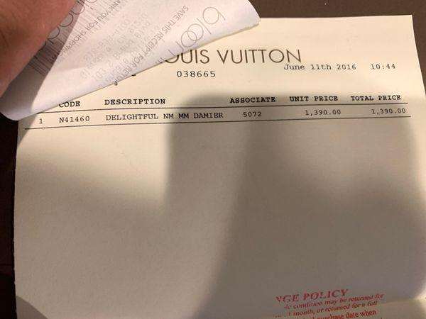 Authentic Louis Vuitton Delightful MM Damier
