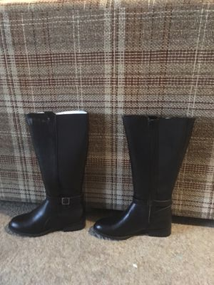 Tall flat knee high black boots for Sale in Ashland, IL