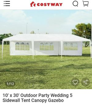 10' x 30' Outdoor Party Wedding 5 Sidewall Tent Canopy Gazebo for Sale in Chino, CA