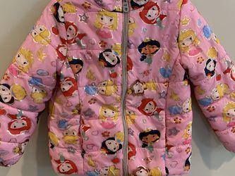 Disney Princesses Puffer Jacket Toddler Girl 4T for Sale in Burbank,  CA
