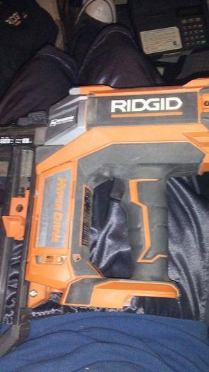 Ridgid 18 volt nail gun for Sale in Avondale, AZ