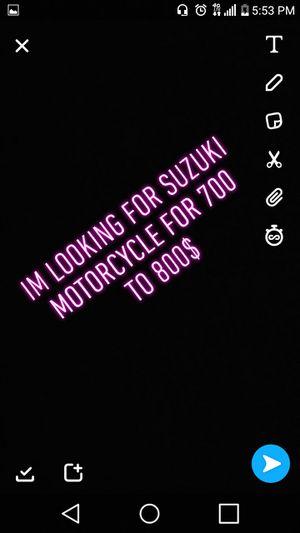 Suzuki motorcycle for Sale in Houston, TX