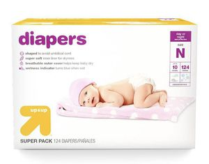 """Diapers Super Pack Size Newborn - 124ct - Up & Up """"🔥🔥🔥 for Sale in Houston, TX"""