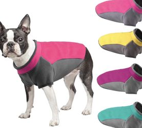 ACKERPET Stretch Dog Fleece Vest Jacket, Haif Zip Pullover Fleece Dog Sweater Winter Coat, Warm Dog Apparel Clothes for Cold Weather, Cozy Dog Fleece for Sale in Santa Ana,  CA