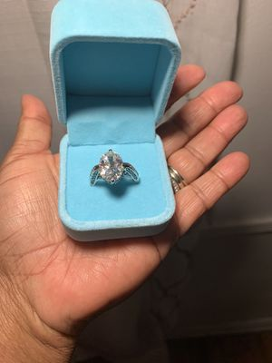 Beautiful Sea of Ice Cubic Zirconia in 925 Sterling Silver for Sale in Los Angeles, CA
