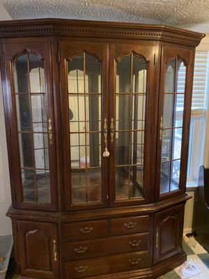 Wood china cabinet for Sale in Duluth, GA