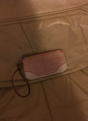 Pink coach wristlet for Sale in Boston, MA