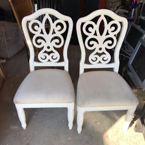 2for30 White Wood Chairs for Sale in Pomona, CA