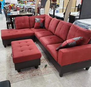 🍻$39 Down Payment 💥  SPECIAL] Pablo Red Sectional | U5700 for Sale in Jessup, MD