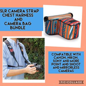 USA GEAR DSLR Camera Strap Chest Harness & Camera bag for the price of one for Sale in Redlands, CA