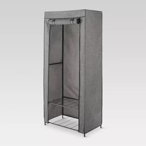 2 Tier Wardrobe Metal Frame With Two Shelves and Breathable Cover - Threshold for Sale in Chandler, AZ