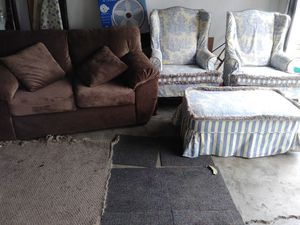 ANTIQUE 3 PIECE SET + BROWN LOVESEAT BOTH PET FREE SMOKE FREE+3 FREE WALL MIRRORS...$175 for Sale in Stockton, CA