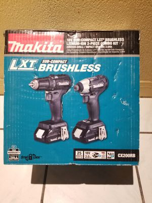 Makita Combo kit Drill and Impact Driver Brushless 18V for Sale in Norwalk, CA