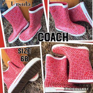 Coach size 6 rain boots for Sale in Orem, UT