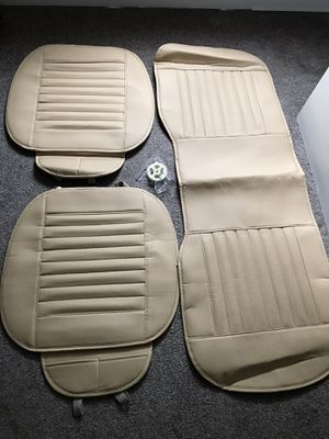 3pcs Breathable Bamboo PU Leather Car Seats Cover Pad Mat for Sale in Chicopee, MA