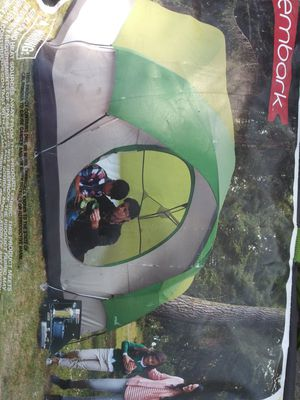 Six person tent with flatable air mattress off floor mattress with legs for Sale in Arlington, TX