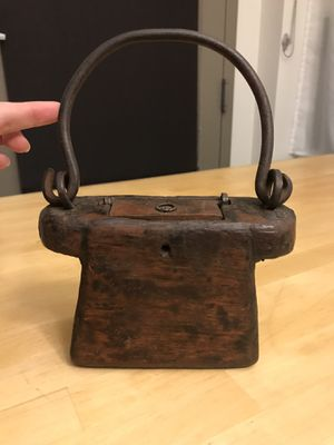 Antique wooden purse shaped decorative item for Sale in Seattle, WA