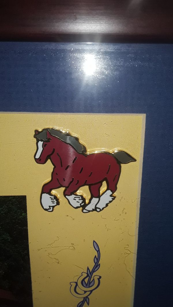 VINTAGE RARE WORLD FAMOUS BUDWEISER CLYDESDALES COLLECTORS PIN SET 1 OF 10,000 PRODUCED LIMITED EDITION