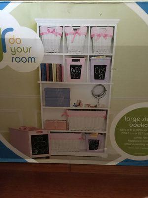 New White Large Storage Bookcase 62.5 inch Hx 32 9/16 inch W x 12 1/2 in D for Sale in San Jose, CA