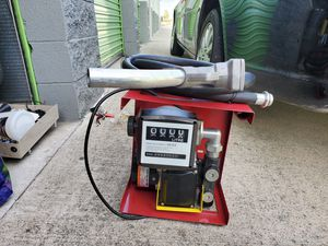 Electric fuel pump with hose and nozzle for Sale in Rancho Cucamonga, CA