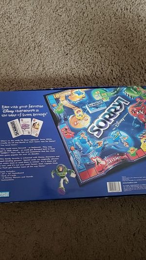 Sorry Disney Edition Board Game for Sale in Columbus, OH