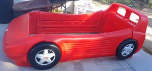 Red Twin Size Car Bed With Toy Storage for Sale in Las Vegas, NV