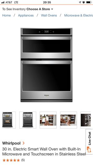 Whirlpool touch screen wall oven and microwave set for Sale in Frederick, MD