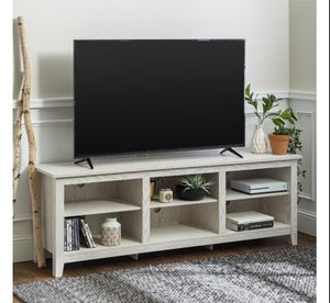 White wash tv stand up to 78 for Sale in Houston, TX