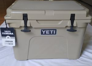 YETI Tundra 35 Cooler, Desert Tan, New. for Sale in Renton, WA