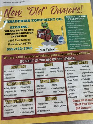 Heavy Duty Truck Parts for Sale in Fresno, CA