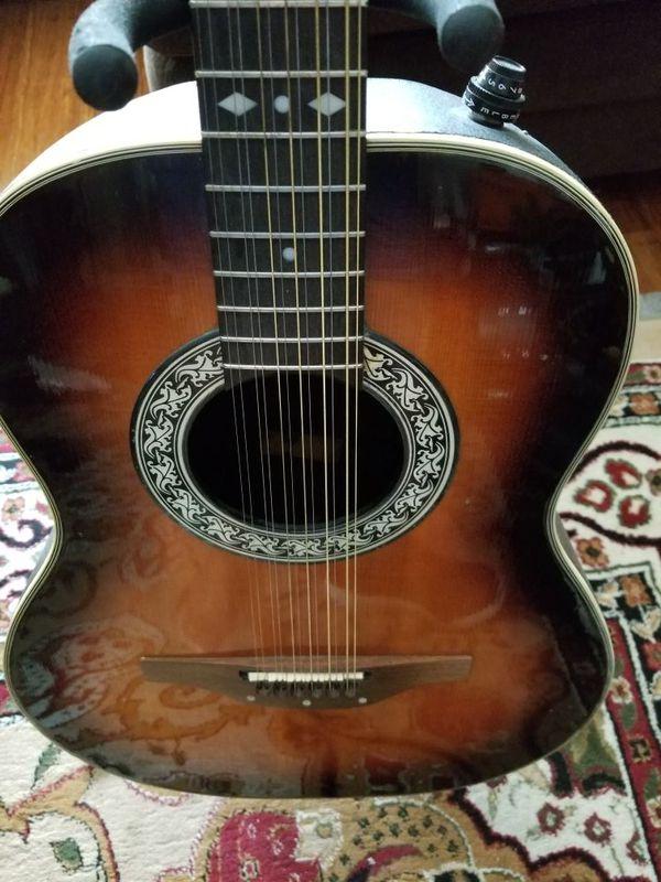 12 string left handed ovation guitar for sale in vacaville ca offerup. Black Bedroom Furniture Sets. Home Design Ideas