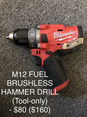 Milwaukee M12 Brushless FUEL HAMMER DRILL for Sale in Boston, MA