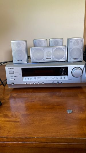 Onkyo AV Receiver TX SR 303 used with infinity speakers for Sale in Woodbury, NJ