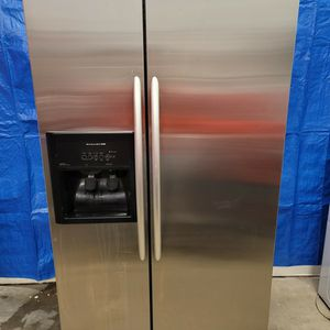 kitchen aid stainless steel fridge good working conditions for Sale in Wheat Ridge, CO