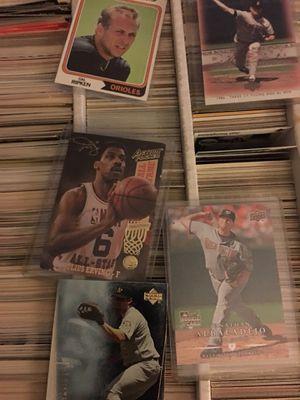Baseball basketball card box full for Sale in Riverside, CA