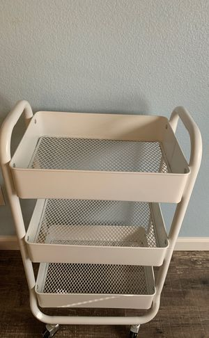 White rolling cart for Sale in Clovis, CA