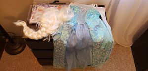 Elsa costume with wig for Sale in Delmont, PA