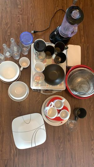 Blender- plate- glasses- cups for Sale in Englewood, CO