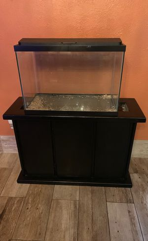Nice 20 gallons fish tank with beautiful stand for Sale in Dallas, TX