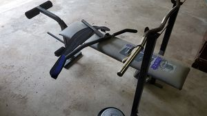 Weight bench, weights, straight bar & curl bar for Sale in O'Fallon, MO