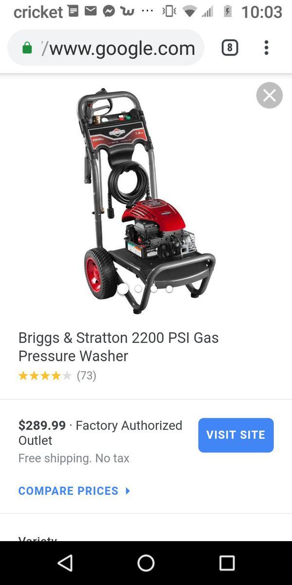 Briggs and Stratton Briggs & Stratton 2200 PSI Gas Pressure Washer