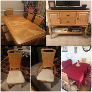 Dining table with matching sideboard for Sale in Suffolk, VA
