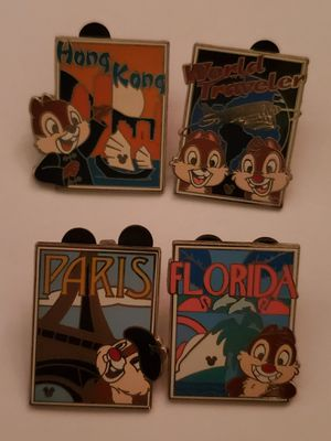 Chip and Dale Disney pins world travelers $35 for Sale in Las Vegas, NV