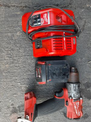 MILWAUKEE RAPID CHARGEE, 18V 5.0 AMP BATTERY, AND MILWAUKEE FUEL HAMMERDRILL for Sale in Torrance, CA