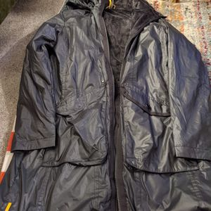 Gray Waterproof Long Coat Size L, Brand Lole for Sale in Chicago, IL
