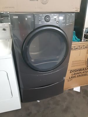 $299 Kenmore Elite gas dryer includes storage pedestal delivery in the San Fernando Valley a warranty and installation for Sale in Los Angeles, CA