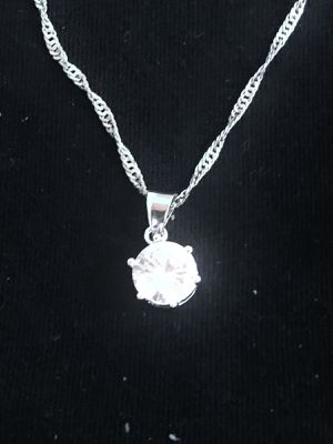 Sterling Silver Necklace / Round CZ for Sale in Las Vegas, NV